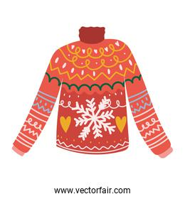 winter ugly sweater christmas fashion clothes cartoon icon