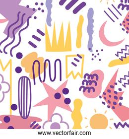 abstract background art minimalistic shapes hand painted