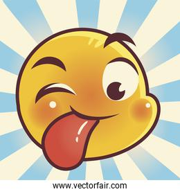 funny emoji, tongue out emoticon face expression social media
