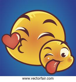 funny emoji, kiss tongue out emoticon faces expression social media