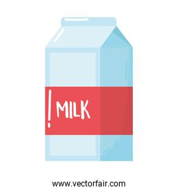 milk box dairy product cartoon icon