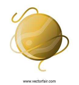 space solar system planet galaxy orbit, icon style