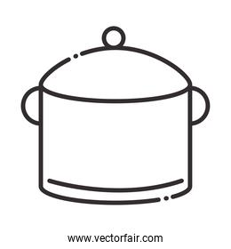 chef, pot kitchen utensil object line style icon