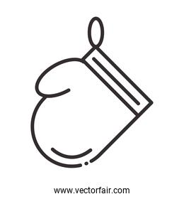 chef, glove protection kitchen utensil line style icon