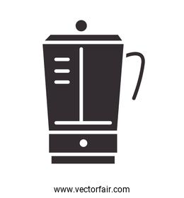 chef, blender appliance kitchen utensil silhouette style icon