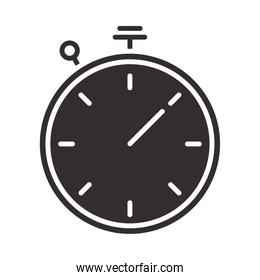 stopwatch time speed instrument silhouette style icon