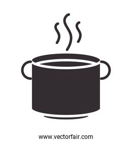 chef, hot beverage in cup kitchen silhouette style icon