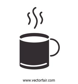 chef, hot coffee cup kitchen utensil silhouette style icon