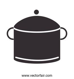 chef, pot kitchen utensil object silhouette style icon