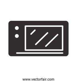 chef, microwave oven kitchen utensil silhouette style icon