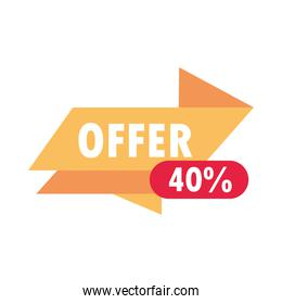 sale offer discount special banner over white background