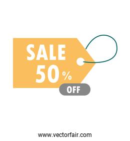 sale discount tag price offer over white background