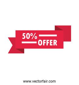 offer discount sale banner over white background