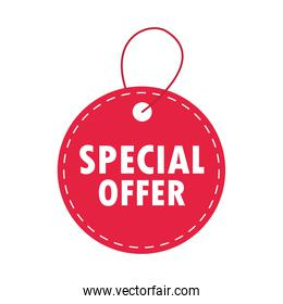 sale discount round tag price special offer over white background