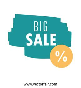 big sale offer discount promotion over white background