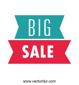big sale offer discount marketing over white background