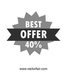 best sale offer discount starburst sticker over white background