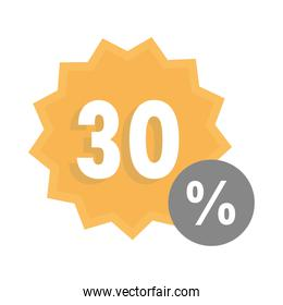 sale offer discount marketing sticker template over white background