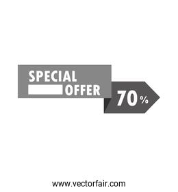 special sale offer discount commerce over white background
