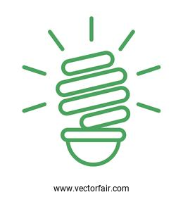 organic natural, light bulb ecology green line style