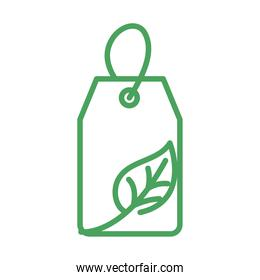 organic natural, tag price product ecology green line style