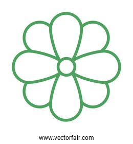 organic natural, flower environment green line style