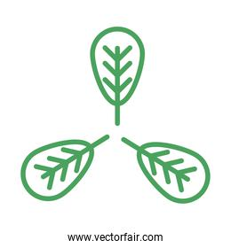 organic natural, eco leaf environment green line style