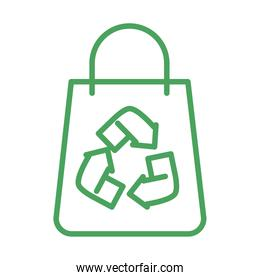 organic natural, shopping bag recycle product green line style