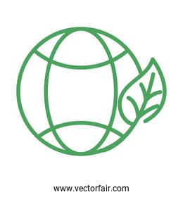 organic natural, world leaf ecology and environment green line style