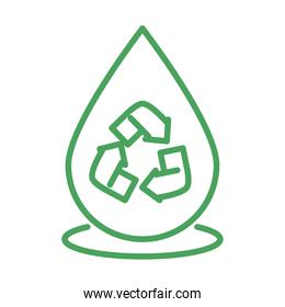 organic natural, water recycle sustainable renewable green line style
