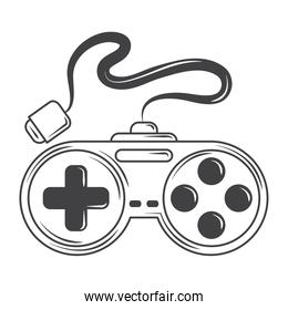 video game controller device for console, sketch style design vector