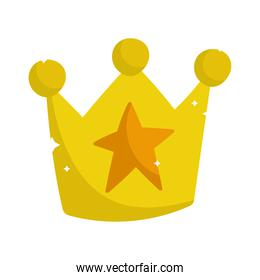 princess tale gold crown with star decoration cartoon