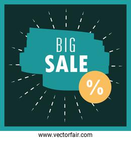 big sale offer discount market commerce promo banner