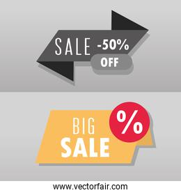 big sale offer discount percent market commercial banners