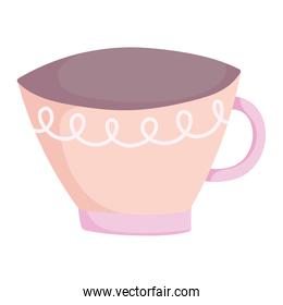 cooking coffee cup utensil cartoon flat icon