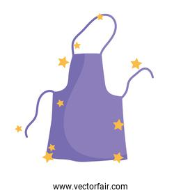 cooking apron clothes cartoon flat icon