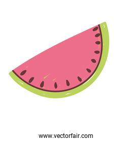 watermelon fresh fruit food icon isolated design