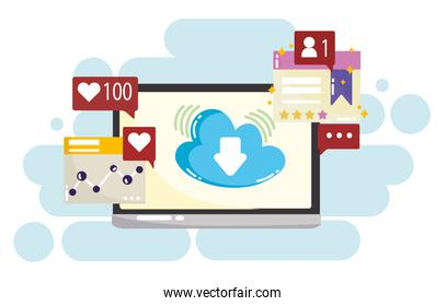 social media mobile cloud computing like follow chat message sms