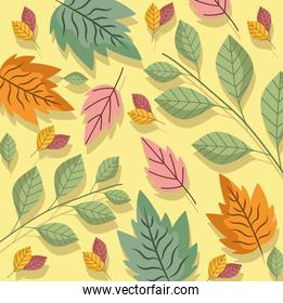 leaves branches foliage nature ecology bloom background