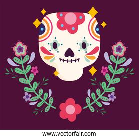 mexico day of the dead flowers floral sugar skull culture traditional