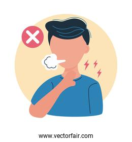 covid19 prevention, do not sneeze without protection for avoid spread coronavirus