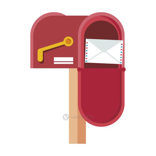 mail box open with envelope icon