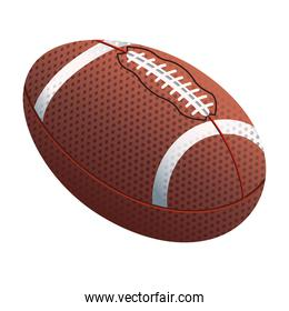 american football sport equipment isolated icon