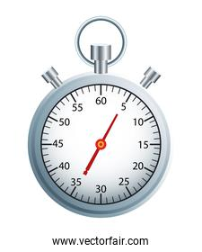 timer chronometer silver isolated icon