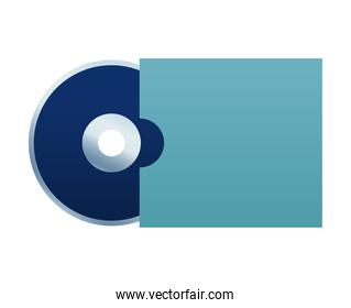 compact disk mockup branding element icon