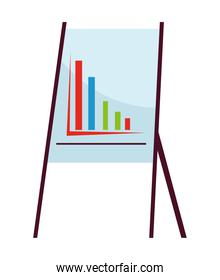 paper board training with statistics infographic