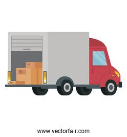 truck delivery service isolated style icon