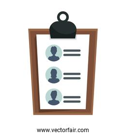 checklist clipboard document isolated style