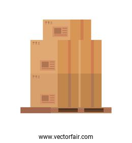 boxes packings postal service isolated style
