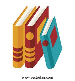 text books education supplies isolated icons